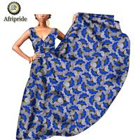 2019 african dresses for women casual sleeveless plus size spaghetti strap print party Floor Length dress vestidos S1925003