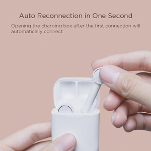 Image 4 - Оригинальные наушники Xiaomi Mi Air Bluetooth, настоящие Беспроводные наушники с сенсорным управлением, с зарядным устройством, беспроводная гарнитура AirDots Pro