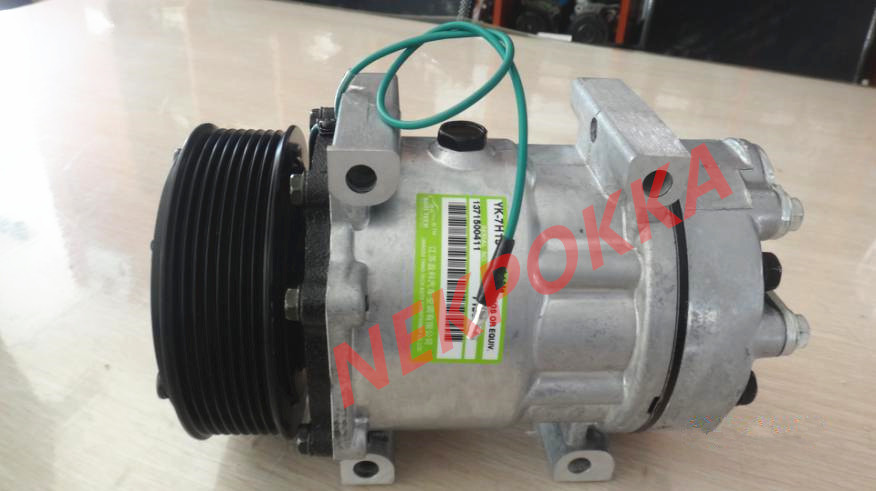 Automotive air conditioning compressor for Volvo excavator for volvo truck,7H15 compressor good performance auto a c compressor for vw 7h15