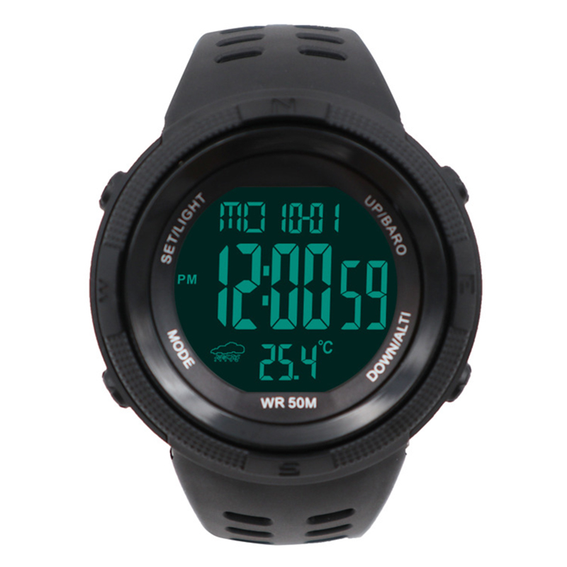 Sports Watch Barometer Altimeter Temperature Weather Report Pedometer Calories Distance Counter Chronograph Outdoor Watches 5ATM
