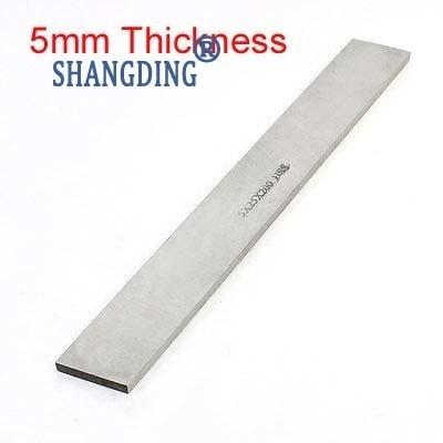 1pc Turning Milling Lathe 5mm Thickness X 5/6/8/10/12/14/16/18/20/25/30/35/40/45/50mm X200mm Length Grinder HSS Blank Tool Bit
