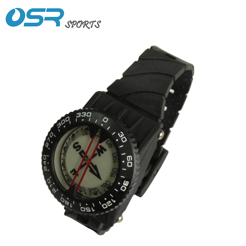Scuba Diving Wrist Compass Lightweight Waterproof 100m Plastic For Swimming Diving Water Sports Accessory