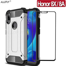360 Full Protective Tempered Glass + Case For Honor 8X 8A Cover Armor Shockproof Huawei