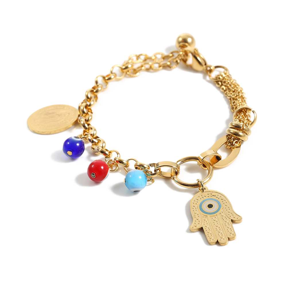 TL Handma Charms Bracelet Vintage Bracelet Handmade Bracelets & Bangles for Women Gold/Silver Stainless Steel Jewelry