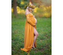 Dress Maternity Photography Props Cotton Sweet Heart Pregnancy Clothes Maternity Dresses For pregnant Photo Shoot Clothing