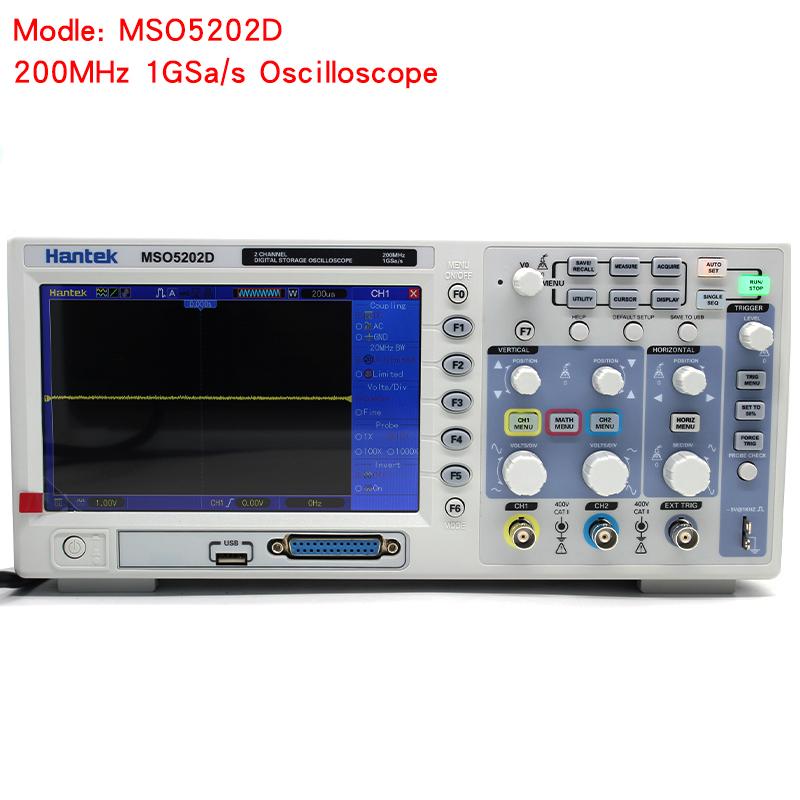 Hantek MSO5202D Digital Oscilloscope USB 200Mhz 2 Channels Hantek Osciloscopio +16Channels Logic Analyzer + External Trigger (1)