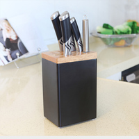 kitchen knife rack Storage rack wall mounted knife holder chopsticks tube rack free punching save home space