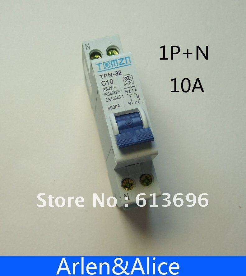 DPN 1P+N 10A Mini Circuit breaker MCB