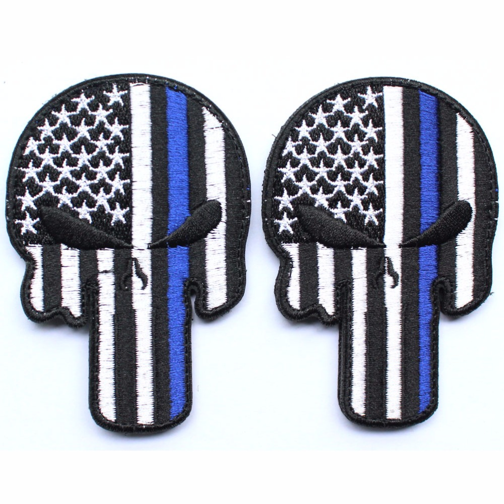Punisher Skull Patches millitary patch American USA Thin blue line - Arts, Crafts and Sewing - Photo 4