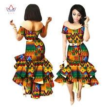3690dbd683 2019 nueva impresión de la cera Africana vestidos para las mujeres Bazin  Riche vestido de fiesta de algodón Dashiki Sexy moda ro.