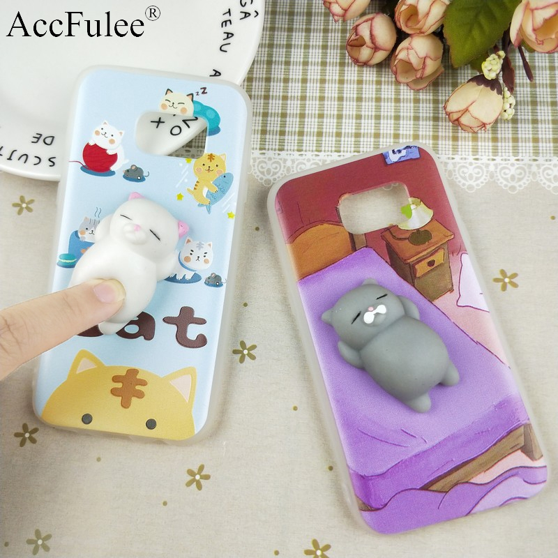 S6 Squishy Funny Cat Case For Samsung Galaxy S6 G9200 G920F G920S 3D Panda Pappy Rabbit Silicone TPU Cover