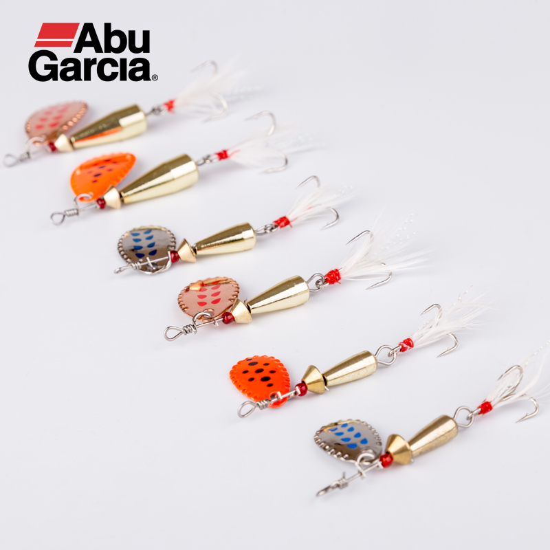 Abu Garcia Fishing Lure 6 Pieces/lot 4G 6G 12G Artificial Bait Small Resistance High Specific Gravity Design With High Quality