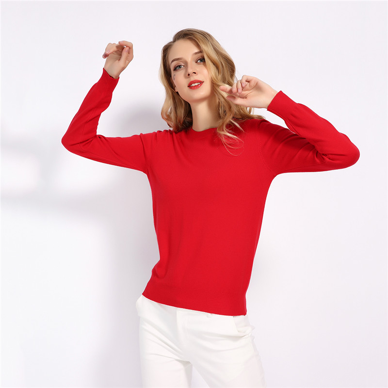 GCAROL 19 Fall Winter Candy Knit Jumper Women 30% Wool Sweater Soft Stretch OL Render Knit Pullover Knitwear S-3XL 8