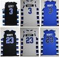 One Tree Hill Filme Filme de basquete Jersey dos homens #23 #3 #22 Lucas Nathan Scott Bordado Costurado Camisa de basquete