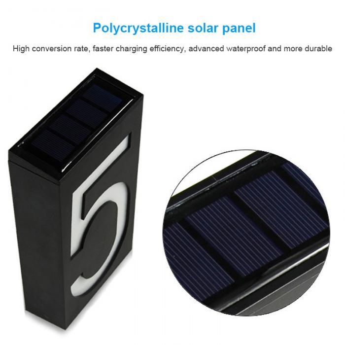 Energia solar led sinal de luz casa