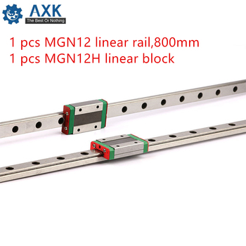Linear Carriage Rail 3d Printer Part Guide Kossel For 12mm 800mm Mgn12 Set Cnc A Axis Mini Mgn12h Long Axk 55cm X 5cm (21.65in