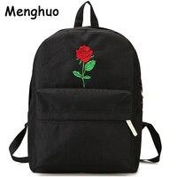 Мужской холщовый рюкзак ghuo для мужчин с сердцем, женская школьная сумка, рюкзак с вышивкой розы, рюкзаки для подростков, женские дорожные су...