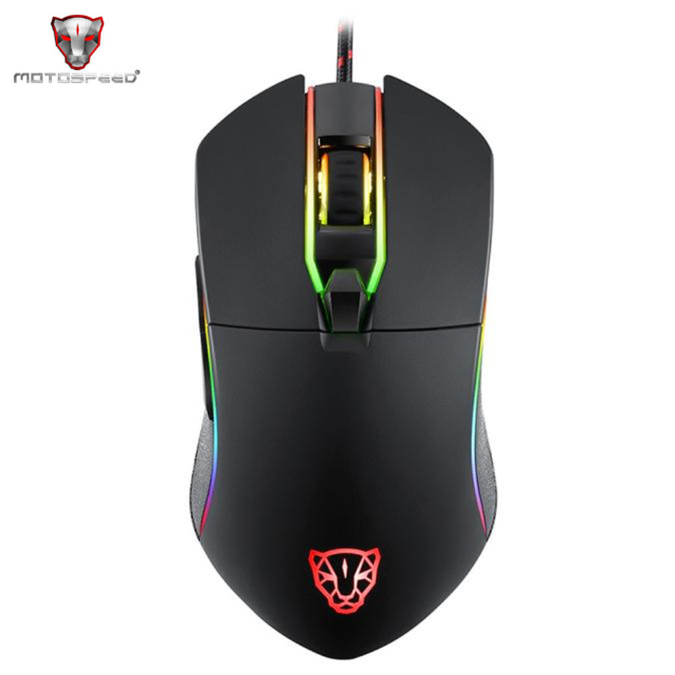 2017 Gaming Mouse V30 3500 DPI 6 Buttons Breathing LED lamp Optical Wired Mouse for PC Laptop Computer Mice Black original motospeed v30 laser gaming mouse 3500 dpi 6 buttons usb wired game mouse rgb backlight led breathing light for pc gamer