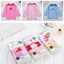 5 pcs/pack Girls Boys long sleeve 100%Cotton T-shirt Baby & Kids tops tees cartoon o-neck toddler infant clothes стоимость