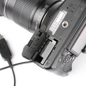 Image 3 - 5V USB ACK E8 DR E8 LP E8 Power Adapter Drive Cable dummy battery DC Coupler for Canon EOS 550D 600D 650D 700D T2i T3i T4i X4 X5