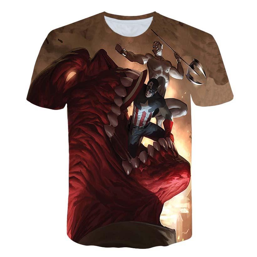 3D Print Avengers T Shirt Men Star War Series O-neck Male tshirt Hip Hop Short Sleeve T shirts Anime Fashion Men Women Top Tee