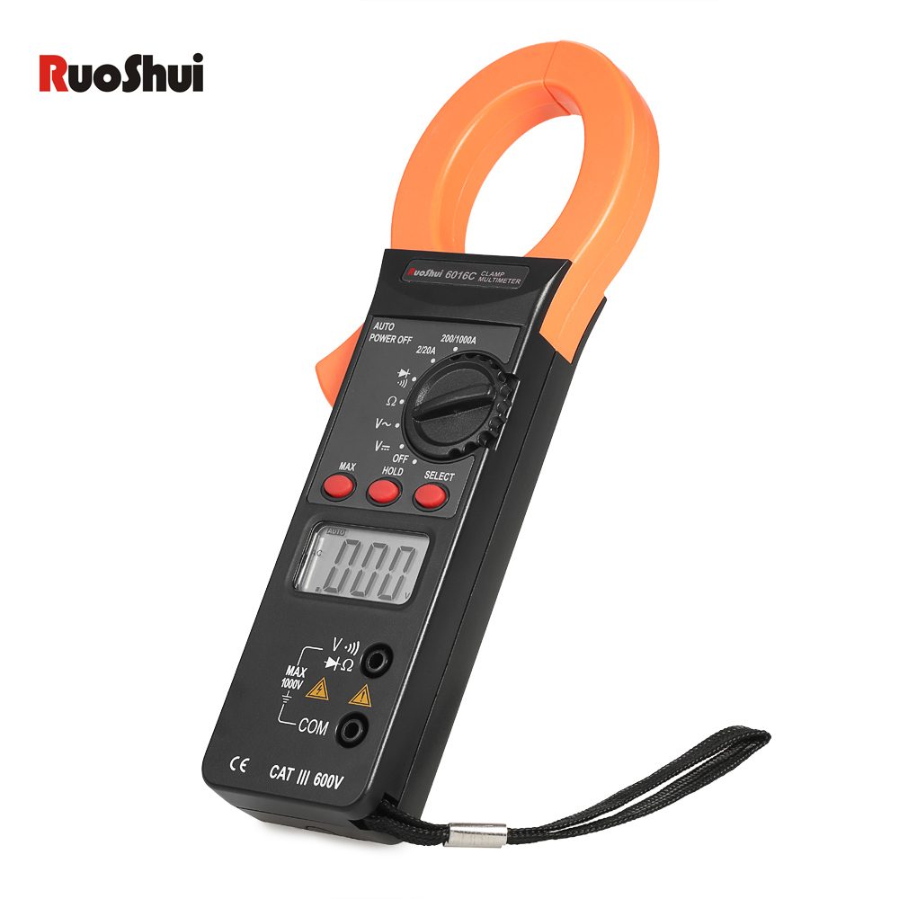1999 Counts AC/DC Current Clamp meter Digital Multimeter Voltage Current Resistance Diode Tester Auto Range diagnostic-tool high quality mt87 lcd auto digital multimeter electronic voltage tester ac dc clamp transistor meter diagnostic tool