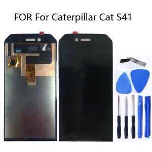 """Image 1 - 4,7 """"Original FÜR Caterpillar CAT S41 LCD Monitor Touch Screen Digitizer Kit für Caterpillar CAT S41 Display Ersatz + werkzeug"""