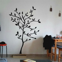 119x157cm Large Tree Wall Sticker For Living Room Tv Sofa Background Decor Removable Vinyl Decal Wall
