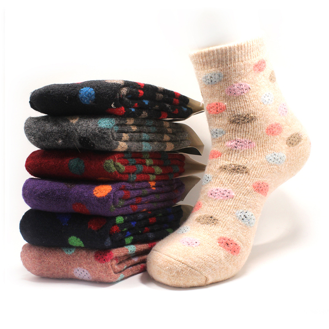 New Women Socks Thick Wool Ladies Socks Cotton Fashion Sock Wholesale 4  Pairs