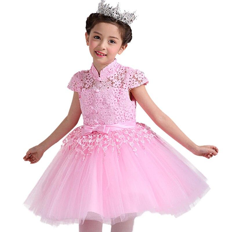 Весна Лето От 3 до 12 лет для девочек нарядное платье принцессы на день рождения для маленьких детей торжественное платье с коротким рукавом ... ...