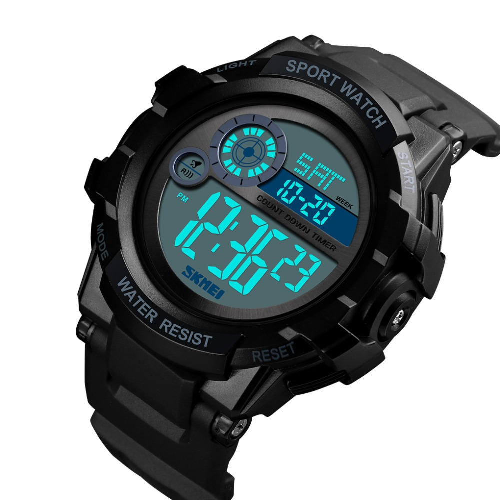 SKMEI Mens Watches To Luxury Brand Men PU Sports Watches  Mens LED Digital Clock Waterproof Military Wrist Watch 1387 SKMEI Mens Watches To Luxury Brand Men PU Sports Watches  Mens LED Digital Clock Waterproof Military Wrist Watch 1387