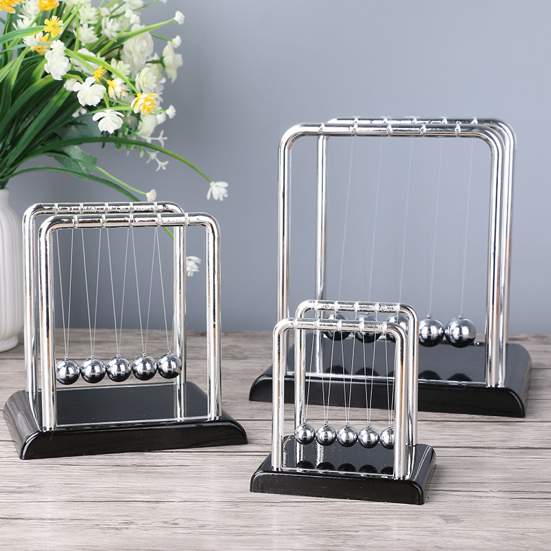 Newton Science Cradle Perpetual Bumper Figurines Swing Ball Plastic Model Creative Office Desktop Toy Christmas Gift Anti-stress