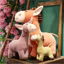 New Style Lovely Funny Donkey Plush Toys PP Cotton Stuffed Animal Donkey Plush Doll Toy Children Gift Baby Toys can animal model provence donkey papo 2010 wholesale children s toys classic collection