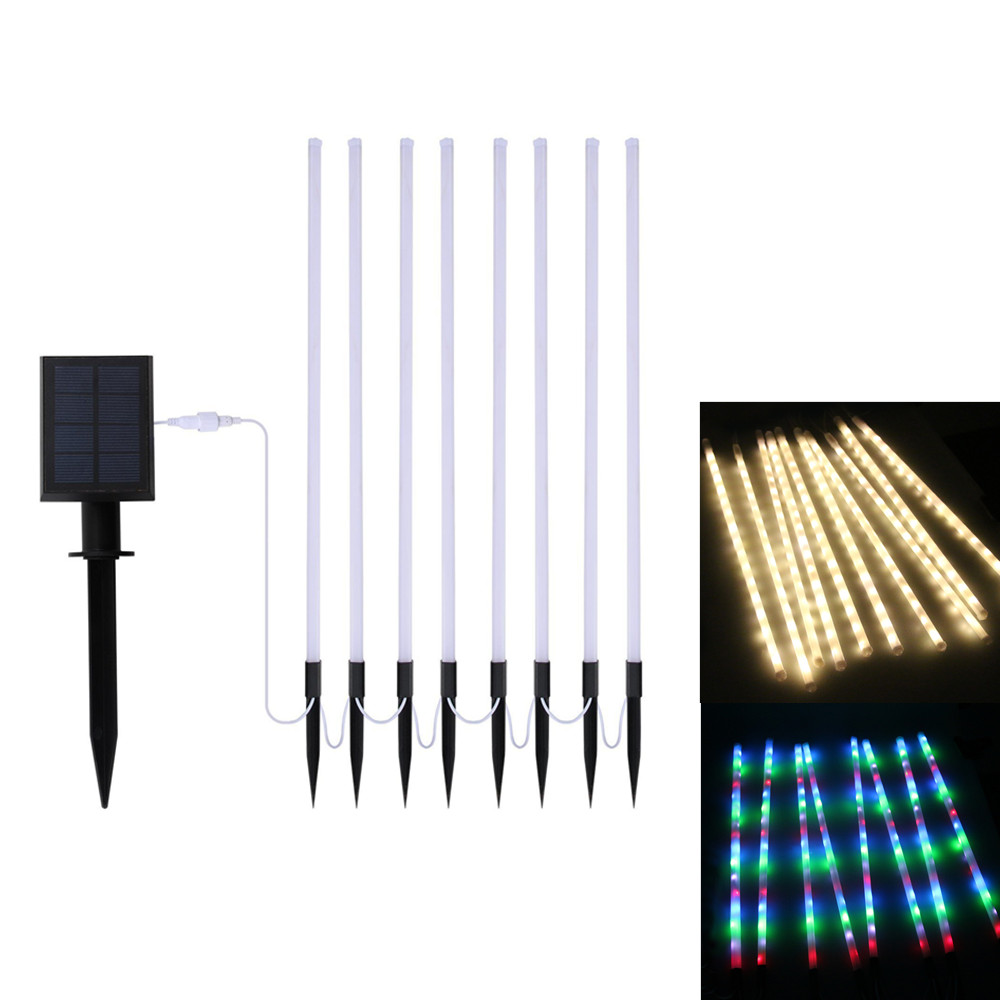 Premium Quality 0.5m LED Tube Solar Christmas Lights 8 Modes Waterproof Solar String Lights Lawn light for Outdoor Garden