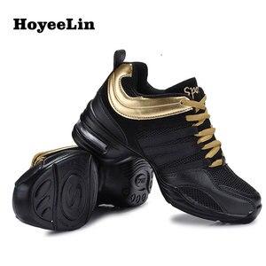 Image 3 - HoYeeLin Mesh caz ayakkabı kadın bayanlar Modern yumuşak taban dans Sneakers nefes hafif dans spor ayakkabı