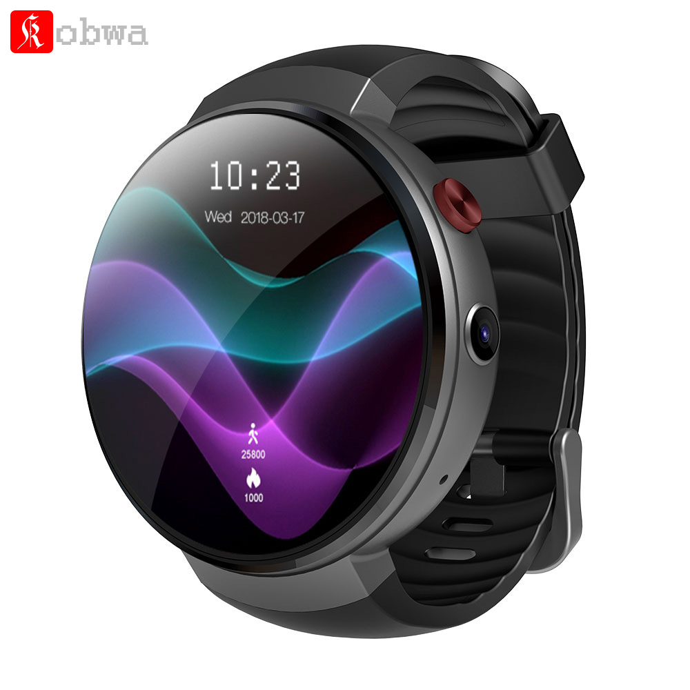 Kobwa LEM7 Smart Watch Android 7.0 Smartwatch LTE 4G Smart Watch Phone Heart Rate 1GB + 16GB Memory with Camera Translation tool