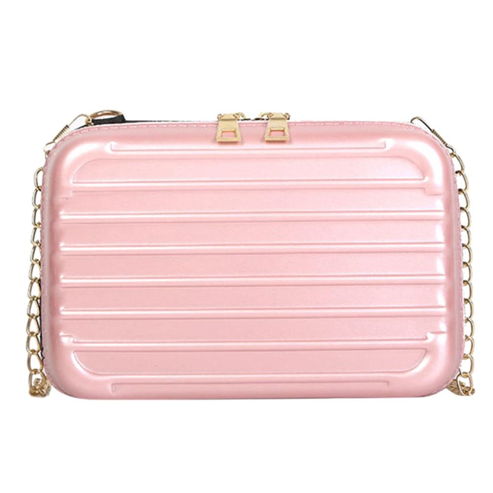 349e7a226c1f 2019 Для женщин Мода Досуг мини цепи чемодан single-сумка Курьерские сумки  маленький Для женщин