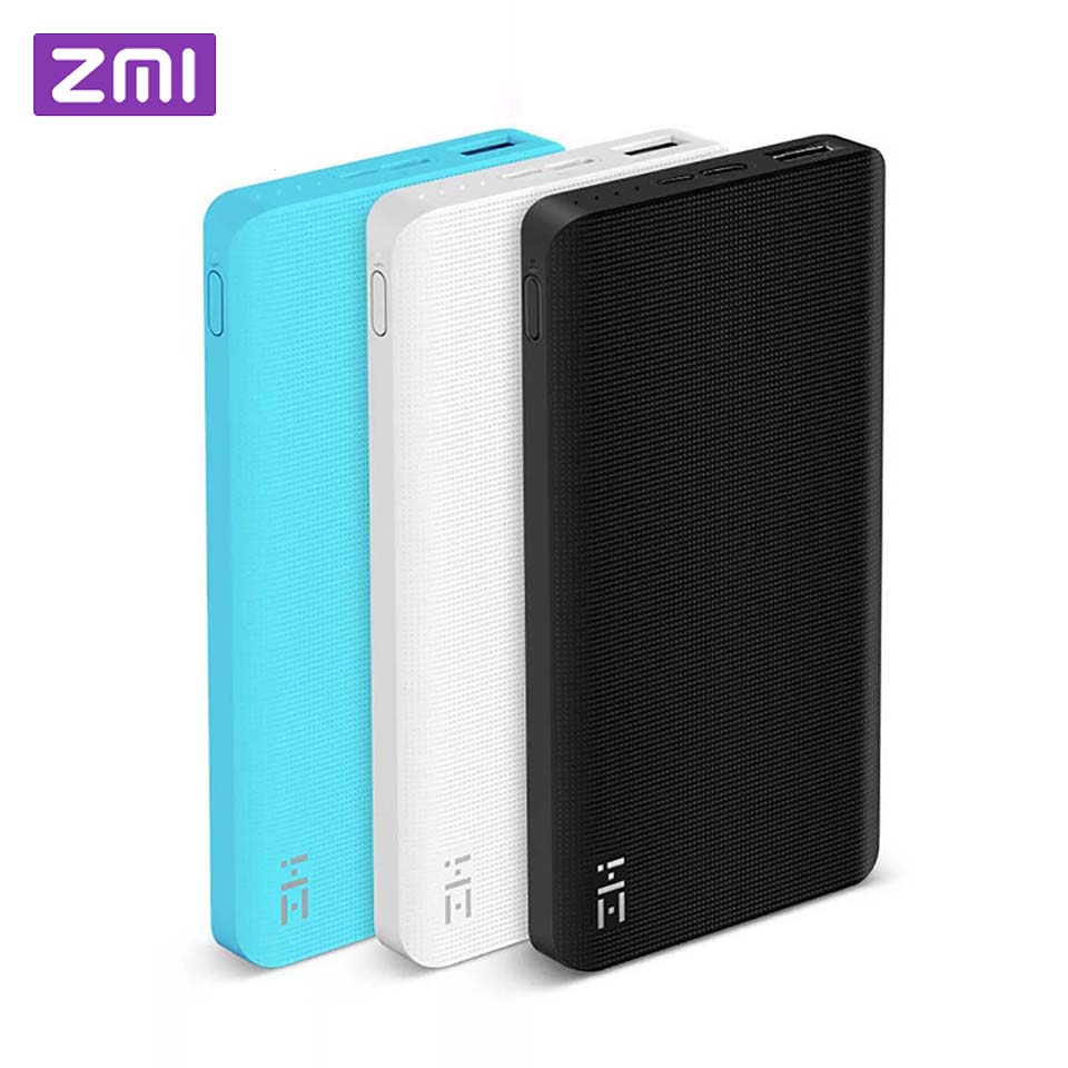 Xiaomi ZMI 10000 MAh Slim Power Bank External Battery Universal Powerbank Mobile Quick Charge 2.0 For Huawei Samsung IPhone
