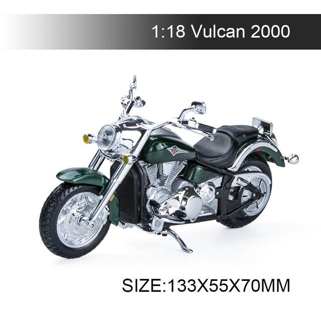 Maisto 1:18 오토바이 모델 가와사키 벌컨 2000 다이 캐스트 플라스틱 모토 미니어처 레이스 장난감 선물 컬렉션