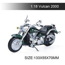 Maisto motocicleta en miniatura de plástico fundido a presión, modelo 1:18, Kawasaki Vulcan 2000, juguete para colección de regalos