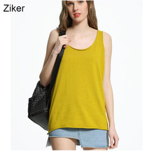 Ziker New Fashion 2017 Summer Women Knitting Vest Solid Loose Slim Casual Strapless Knitted Women Tops