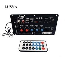 Lusya AC 220 В цифровой Bluetooth стерео усилитель сабвуфер двойной микрофон караоке усилители для 8 12 дюймов динамик D2 004