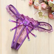 Sexy Lace Butterfly Transparent Triangle Underwear