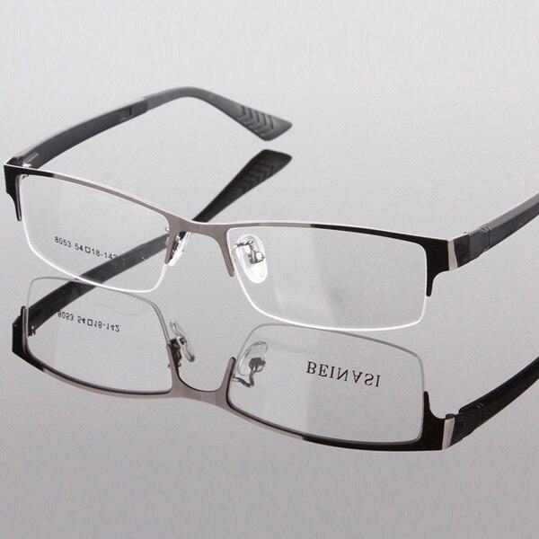 9b728c871d56c Metal Vintage Half Frame Men Glasses Frames Myopic Lens Rim Design Clear  Lens Eye Pedant Spectacles Frames-in Eyewear Frames from Apparel  Accessories on ...
