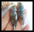 Натуральный камень Handcarved птица лабрадорита серьги, 47 * 14 * 5 мм 12.8 г натуральный камень серьги резные лабрадорит серьги