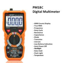 Digital Multimeter Multimetro Voltage Tester Current Resistance Tester Capacitance Frequency Temperature hFE NCV multimetre