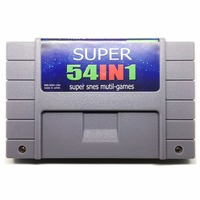 Save File 54 in 1 with Sunset riders Final Fight Alien 3 Top Race 16 bit Big Gray Game Console For USA Version NTSC Game Player