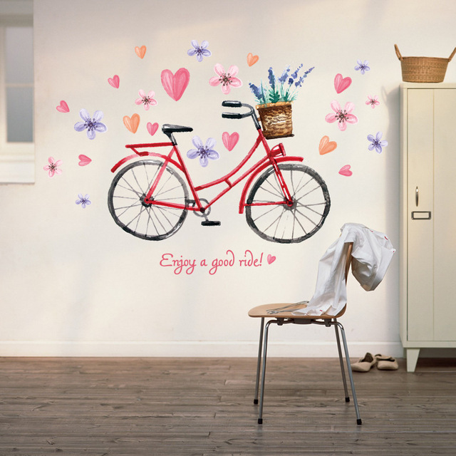 Wallpaper stickers living room TV background wallpapers bedroom romance  warm wall stickers bikes. Wallpaper stickers living room TV background wallpapers bedroom