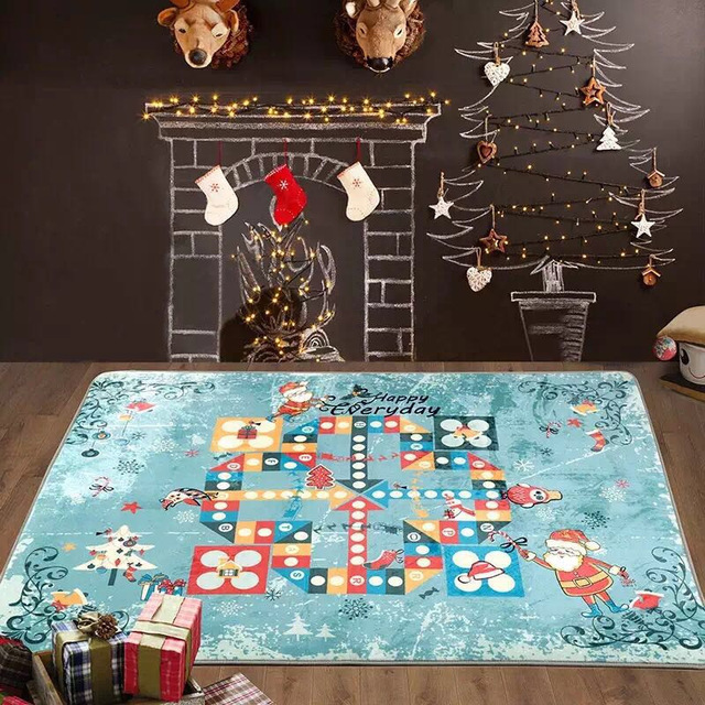 Newest Flight Chess Carpet Kids Large Baby Gym Play Mat Flying Christmas Rugs And Carpets