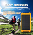 8000mAh Dual USB Portable External Solar Energy Battery Charger Power Bank PowerBank For iPhone 6s Plus Power Bank Charger